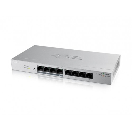 ZyXEL GS1200-8HP, 8-port Gbit  4xPoE Switch