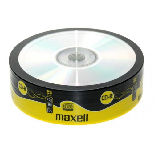 Maxell CD-R 52x, 700MB 25 kom shrink