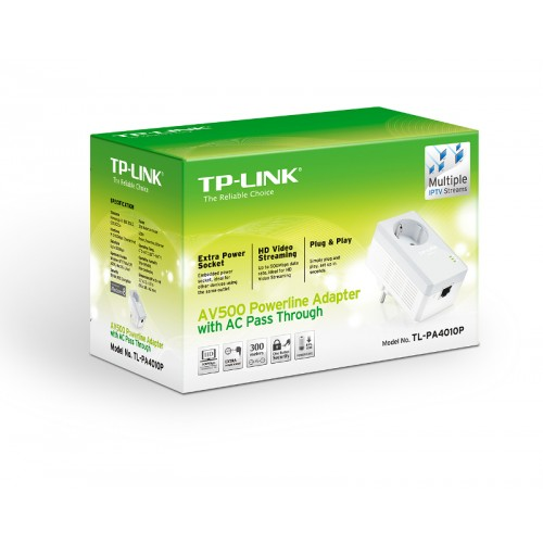 TP-Link PA4010P KIT, 500Mbps powerline s..