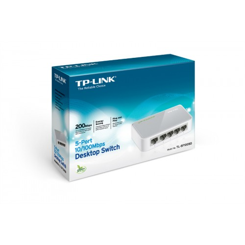 TP-Link TL-SF1005D, 5-port 10/100 switch,plastičn..