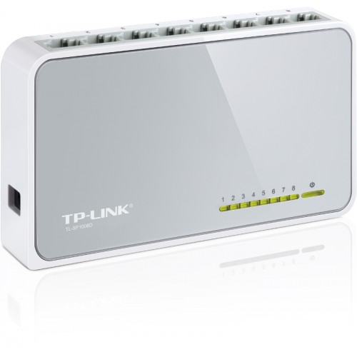 TP-Link TL-SF1008D, 8-port 10/100 switch,plastičn..