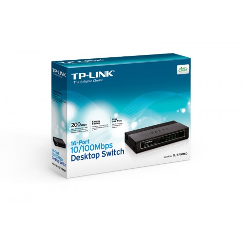 TP-Link TL-SF1016D,16-port 10/100 switch,plastičn..