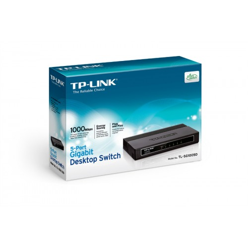 TP-Link TL-SG1005D, 5-port GbE switch, plastično