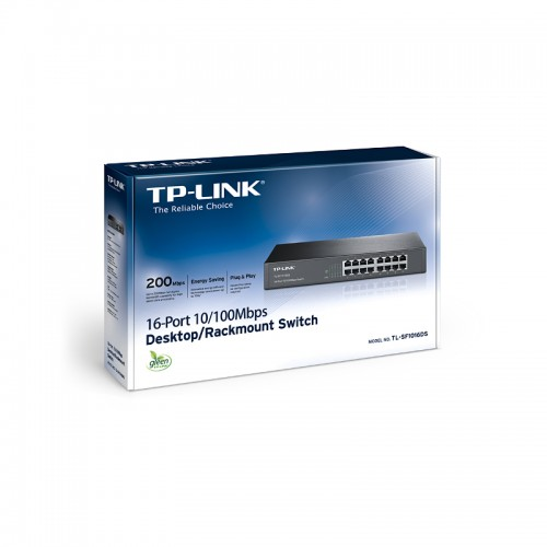 TP-Link TL-SF1016DS,16-port 10/100 switch
