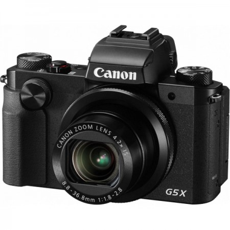 Canon PS G5X, 20MP, 17x zoom, 3