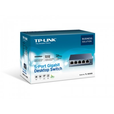 TP-Link TL-SG105, 5-port GbE switch, metalno