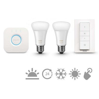 Philips HUE starter kit 2, E27, bijela, switch