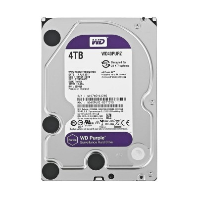 Western Digital Purple, 3.5'', 4TB, 64MB, 5400 rpm