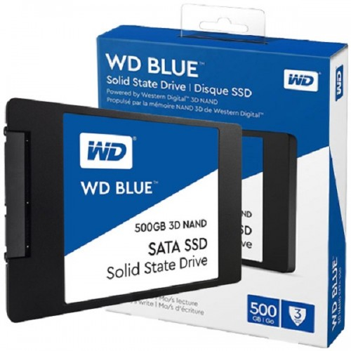 WD Blue 3D NAND SSD 500GB, 2,5