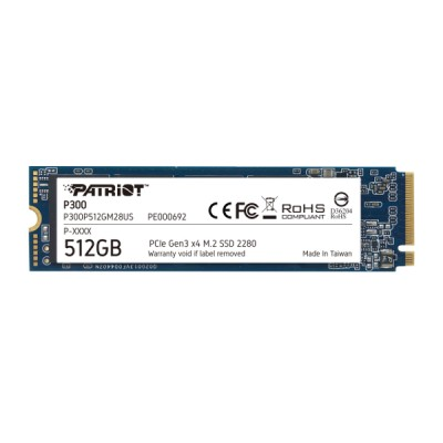 Patriot SSD P300 R1700/W1200, 512GB, M.2 NVMe