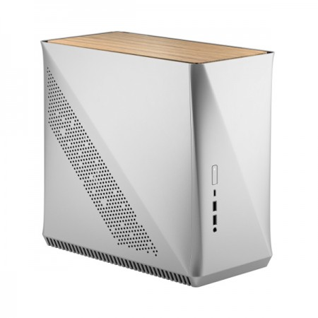 Fractal Design Era ITX Silver - White Oak, srebrno-bijel, be..
