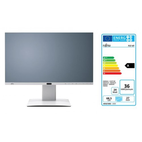 Fujitsu P27-8 TE, LED 27'', IPS, QHD, USB 3.1, DP, HDMI, DVI, integrirani zvučnik, 60Hz