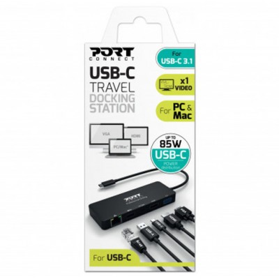 Port dock office and travel USB Type-C, 1X4K PD